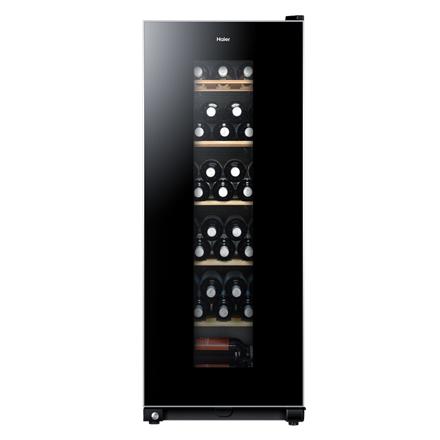 Haier Wine cooler, Bottles capacity 59, Black Vīna skapji