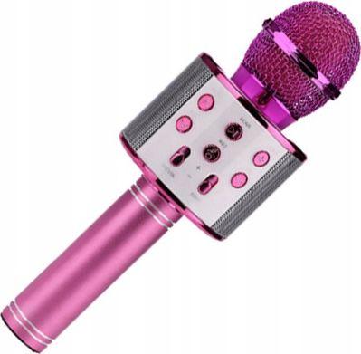 Xrec Microphone Karaoke Microphone Bluetooth Speaker WS858 - Pink Mikrofons
