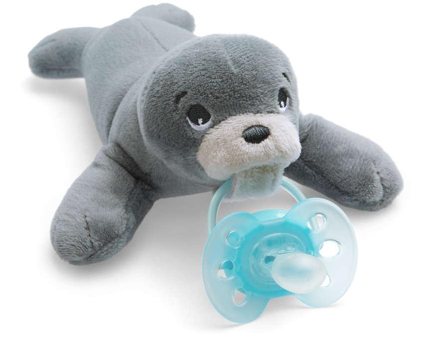 Philips Avent plīša rotaļlieta Ronītis ar Ultra soft māneklīti 0–6 mēn. SCF348/14 māneklītis, knupis