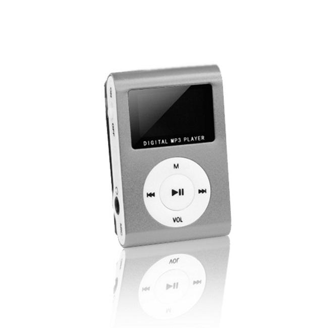 Setty MP3 Super Kompakts Atskaņotājs ar LCD ekrānu un microSD kartes slotu + Austiņas Pelēks MP3 atskaņotājs