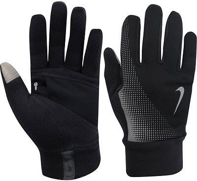 Nike Men's Gloves Thermal Tech Run Gloves Anthracite / black s cimdi