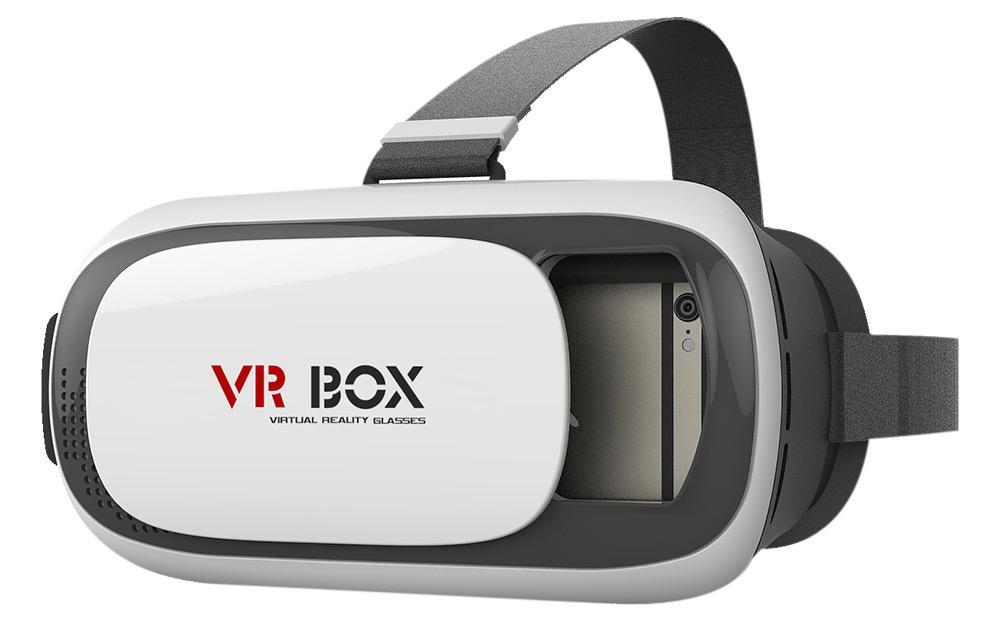 VR BOX 3D Virtuālās Realitātes Brilles Smartfoniem Līdz 5.5 collam Baltas