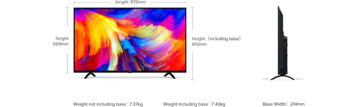 "XIAOMI Mi LED Smart TV 4A 43""FHD/1920x1080/Wireless LAN/Android LED Televizors"