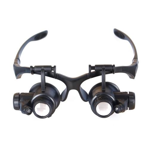 Levenhuk Zeno Vizor G4 PLUS Palielinamais stikls & Brilles ar Apgaismojumu (10-25x)