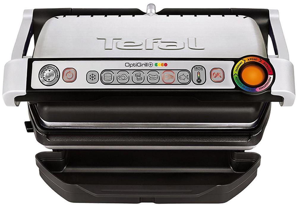 TEFAL Grils OptiGrill+ ,2000 W, sudraba GC712D34 Galda Grils