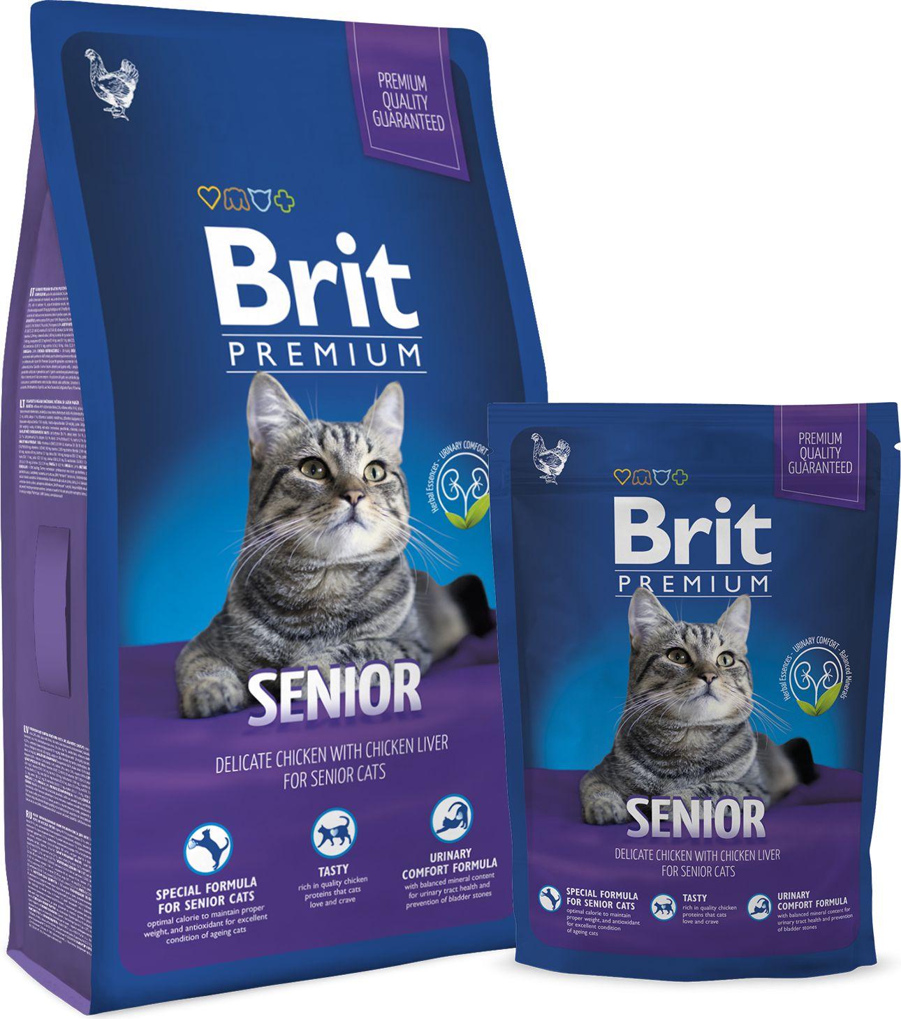 Brit Premium Cat New Senior 800g kaķu barība