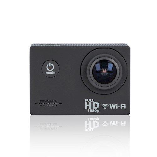Forever SC-210 Plus (Full HD, 30 fps) Ūdens un Triecienu Izturīga Sporta Kamera + Turētājs / Stiprinājumi / Wi-Fi Melna sporta kamera