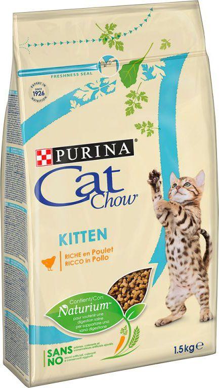 Nestle PURINA CAT CHOW 1.5kg KITTEN KURA kaķu barība