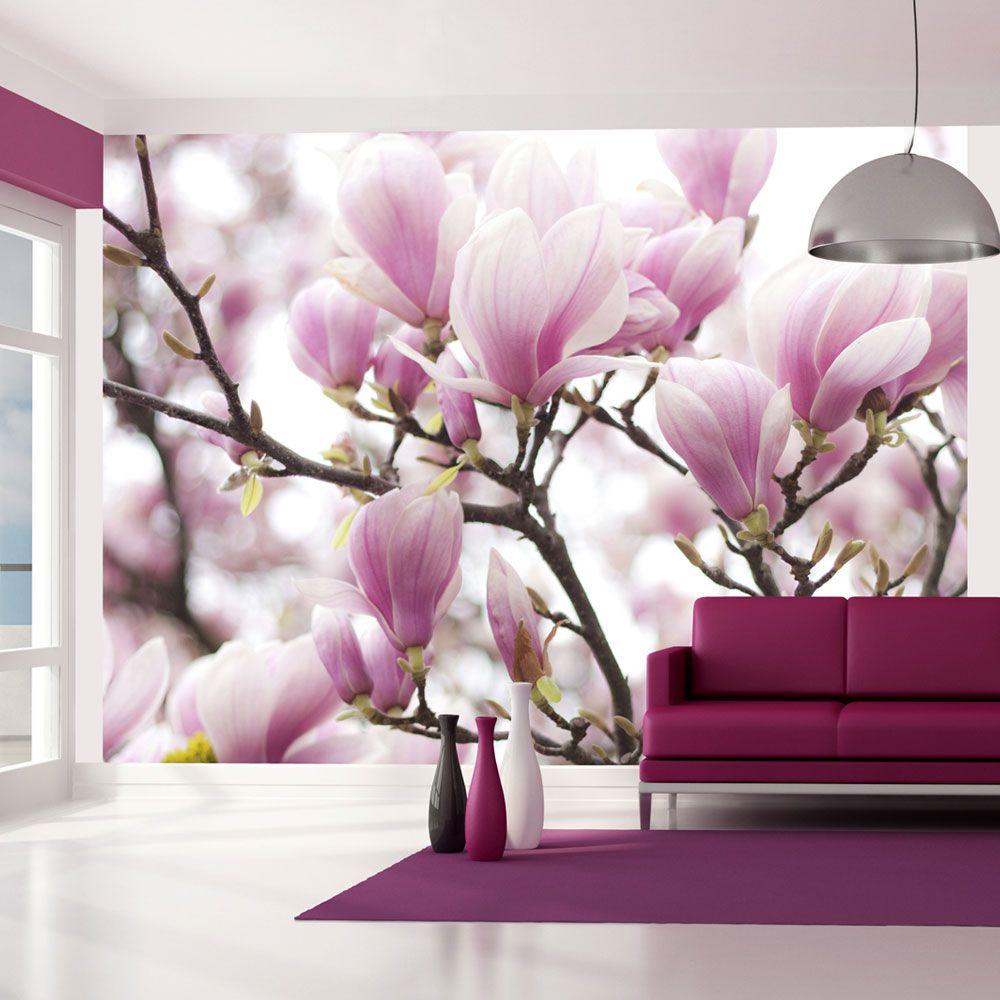 Artgeist Fototapeta - Galazka kwitnacej magnolii 350x270 BP-FTNT1615