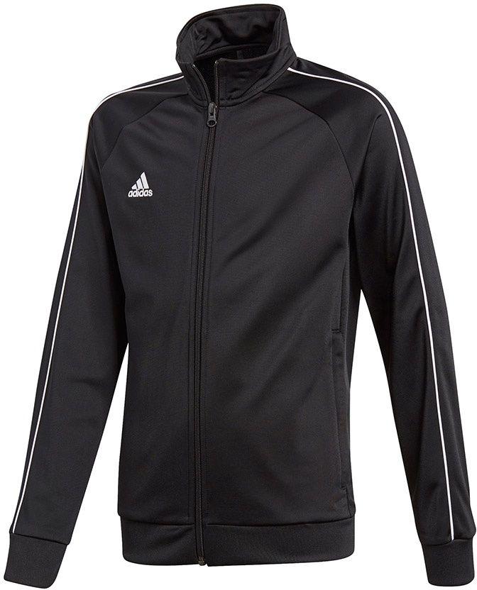Adidas Bluza pilkarska CORE 18 PES JKTY czarna r. 140 cm (CE9052) CE9052