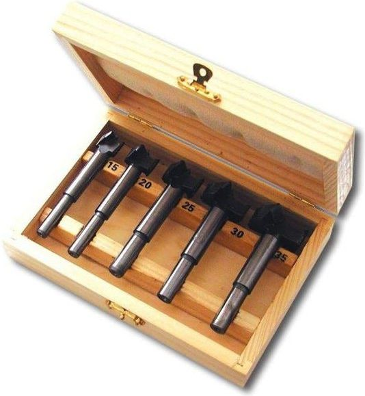 AWTools Sekowniki wiertla cylindryczne do drewna 15 - 35mm 5szt (AW40511) AW40511