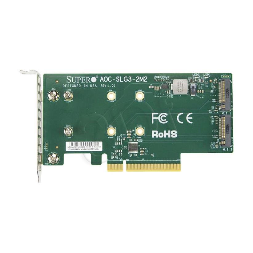 RISER CARD SUPERMICRO AOC-SLG3-2M2-O
