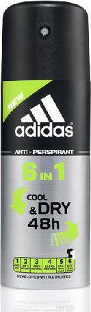 Adidas for Men Cool & Dry Dezodorant spray 6w1  150ml 31983862000