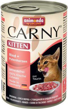 ANIMONDA  CARNY Kitten Wolowina i indycze serca 400g VAT006995 kaķu barība