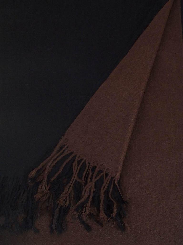 Art of Polo Szal damski Sen o prostocie czarno-brazowy (sz13027-187) sz13027-187
