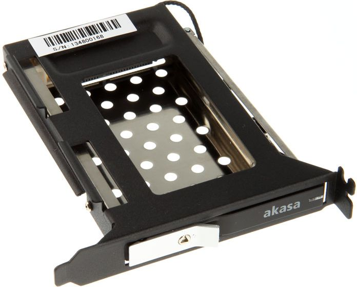AKASA PCI slot mobile    rack for 2.5 HDD/SSD SATA cietā diska korpuss