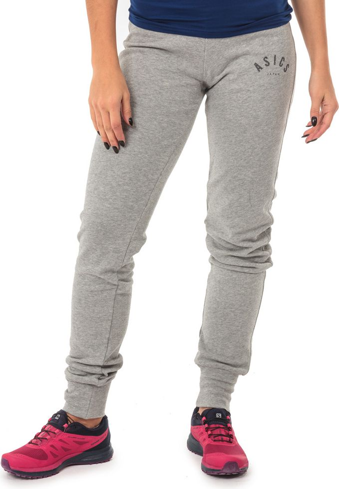 Asics Spodnie damskie Logo Cuffed Heather Grey r. L (1314580714) 1314580714