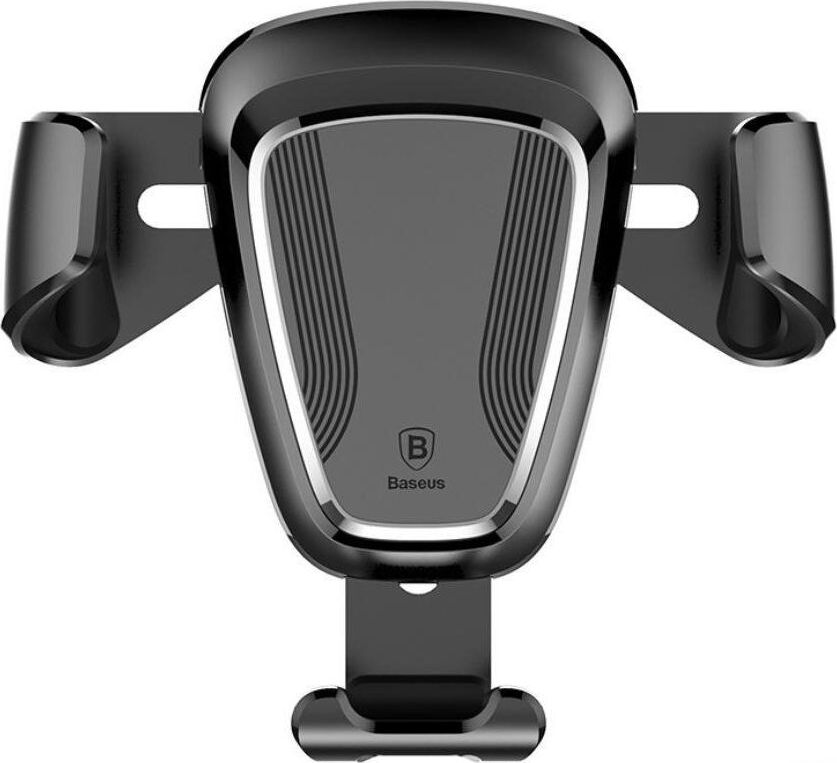 Baseus Gravity Universāls Auto gaisa restes stiprinājums mobilajām ierīcēm ar automātisku fiksāciju Melns Mobilo telefonu turētāji