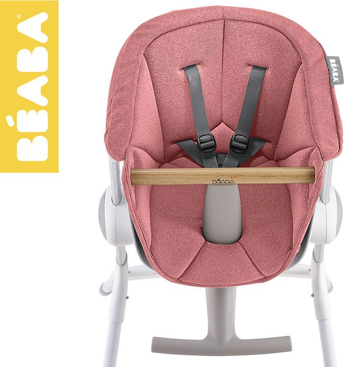 Beaba Beaba Miekki wklad do Krzeselka do karmienia Up&Down pink 912588 bērnu barošanas krēsls