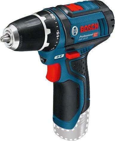 Bosch cordless drill GSR 12V-15 Solo Professional, 12V(blue / black, without battery and charger)