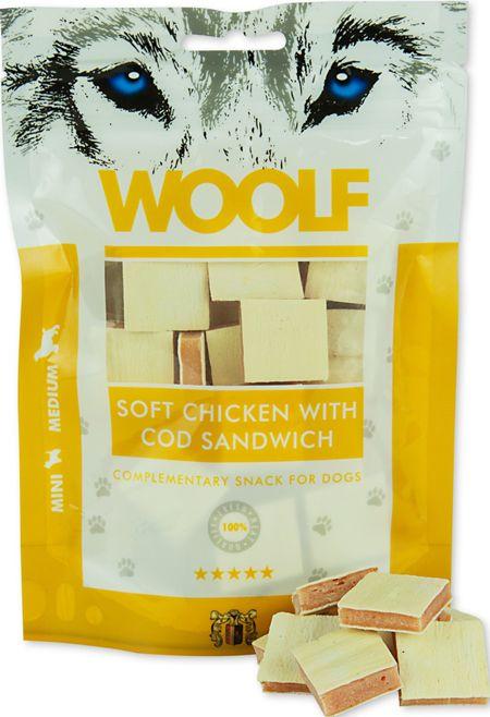 Brit WOOLF 100g SOFT CHICKEN WITH COD SANDWICH VAT005146