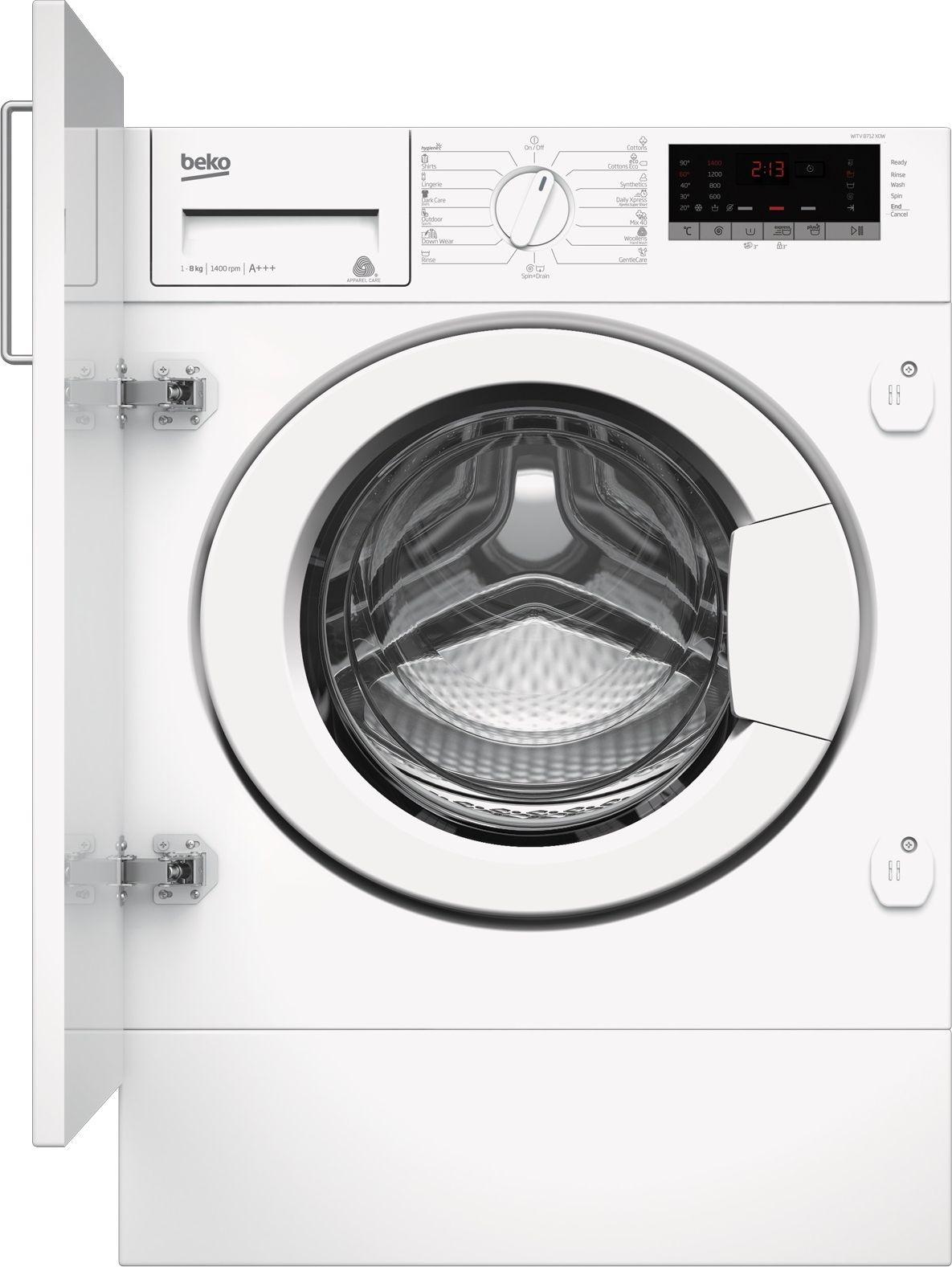 Pralka do zabudowy Beko WITV 8712 X0W WITV8712X0W Iebūvējamā veļas mašīna