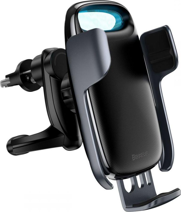 Baseus Milky Way gravity car mount with Qi 15W induction charger (black) Mobilo telefonu turētāji