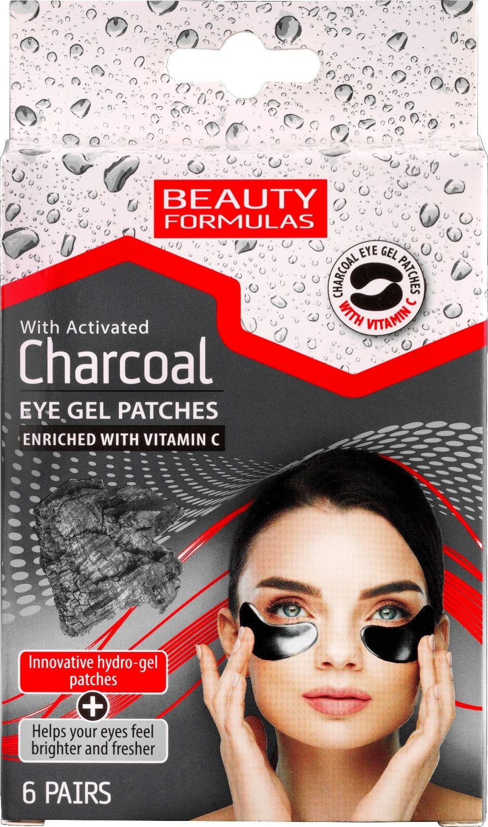 Beauty Formulas Charcoal eye pads 6 pcs.