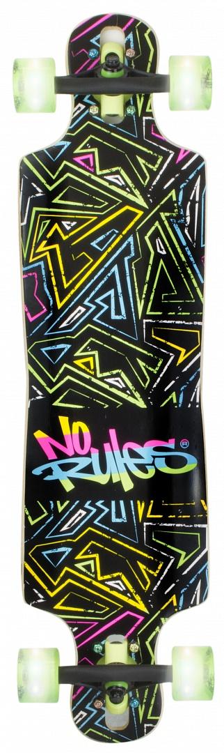 No Rules D3 Longboard NEON skrituļdēlis, ABEC 7 ar gaismiņām AU 361