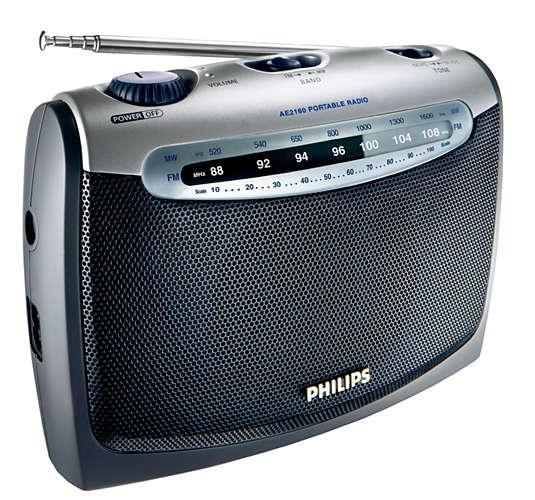 PHILIPS AE2160/00C radio, radiopulksteņi