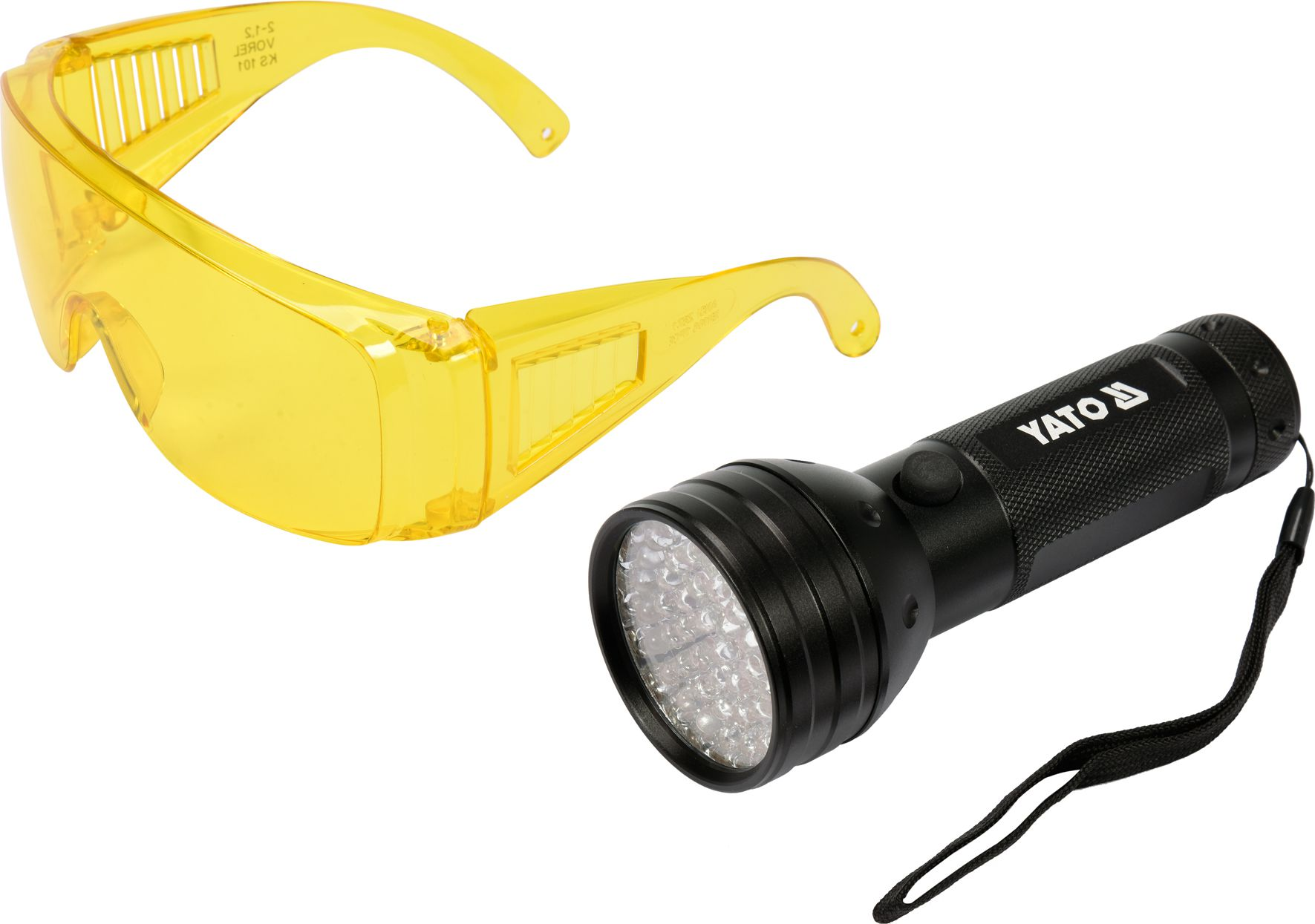 Yato Flashlight UV 51 LED 3 x 1.5V + glasses (YT-08581) kabatas lukturis