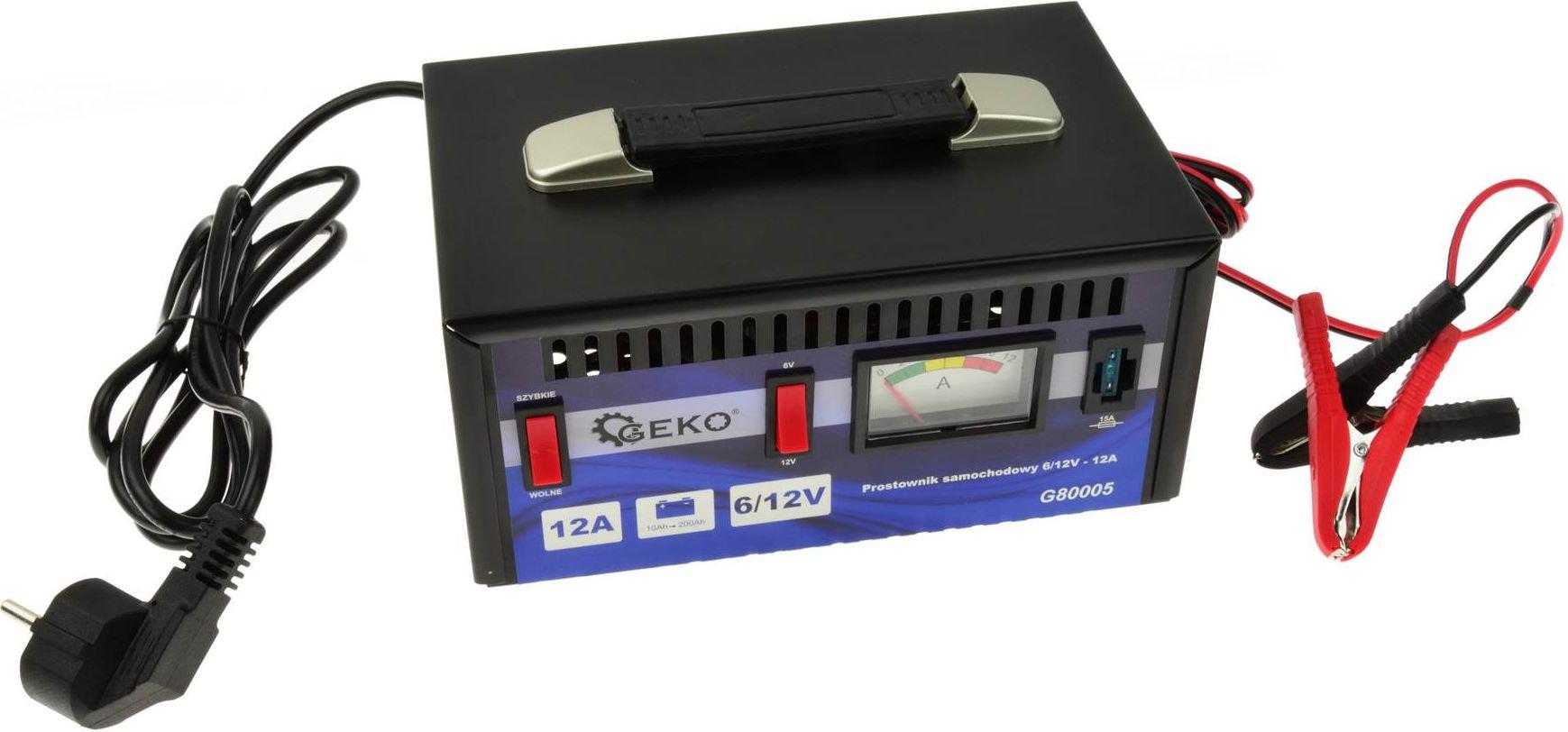 Geko Car rectifier 6 / 12V - 12A auto akumulatoru lādētājs