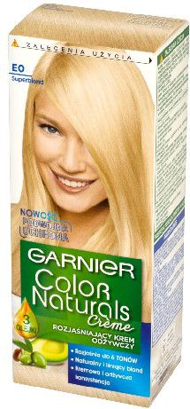 Garnier Color Naturals Krem koloryzujacy nr E0 Rozjasniacz Superblond 0313193
