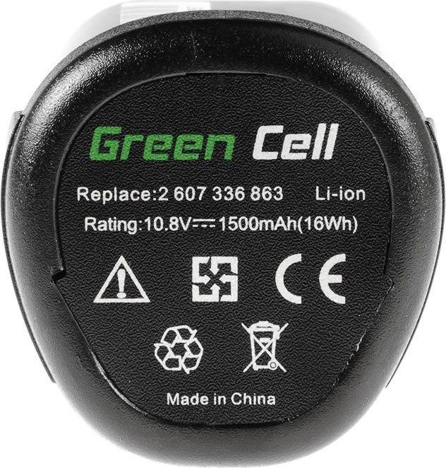 Green Cell Power Tool Battery for Bosch PMF PSM PSR 10,8 LI-2 10.8V 1.5Ah