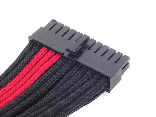 Silverstone ATX 24-Pin-Kabel, 300mm - black/rot kabelis datoram