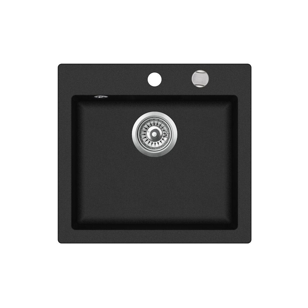 Teka Clivo 50 S-TQ 1-bowl sink without drainer 49 x 45.5cm onyx (40148010) Izlietne