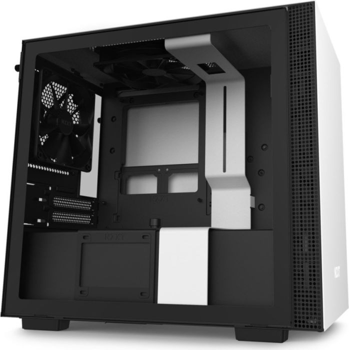 NZXT H210 Side window, White/Black, Mini ITX, Power supply included No Datora korpuss