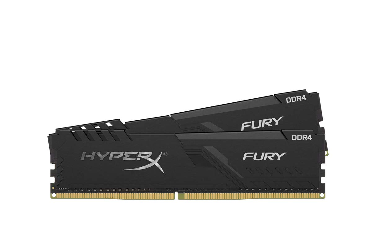 Kingston 16GB HyperX FURY 3200MHz DDR4 CL16 DIMM (Kit of 2) 1Rx8 Black operatīvā atmiņa