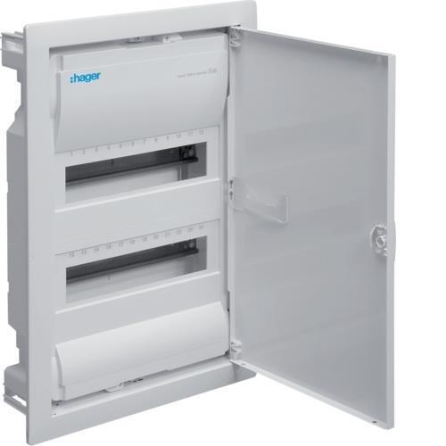 Hager Polo VOLTA 2x12 flush mounted distribution board IP30 - VU24NE