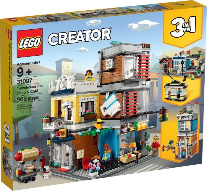 LEGO Creator 31097 Townhouse Pet Shop & Cafe LEGO konstruktors