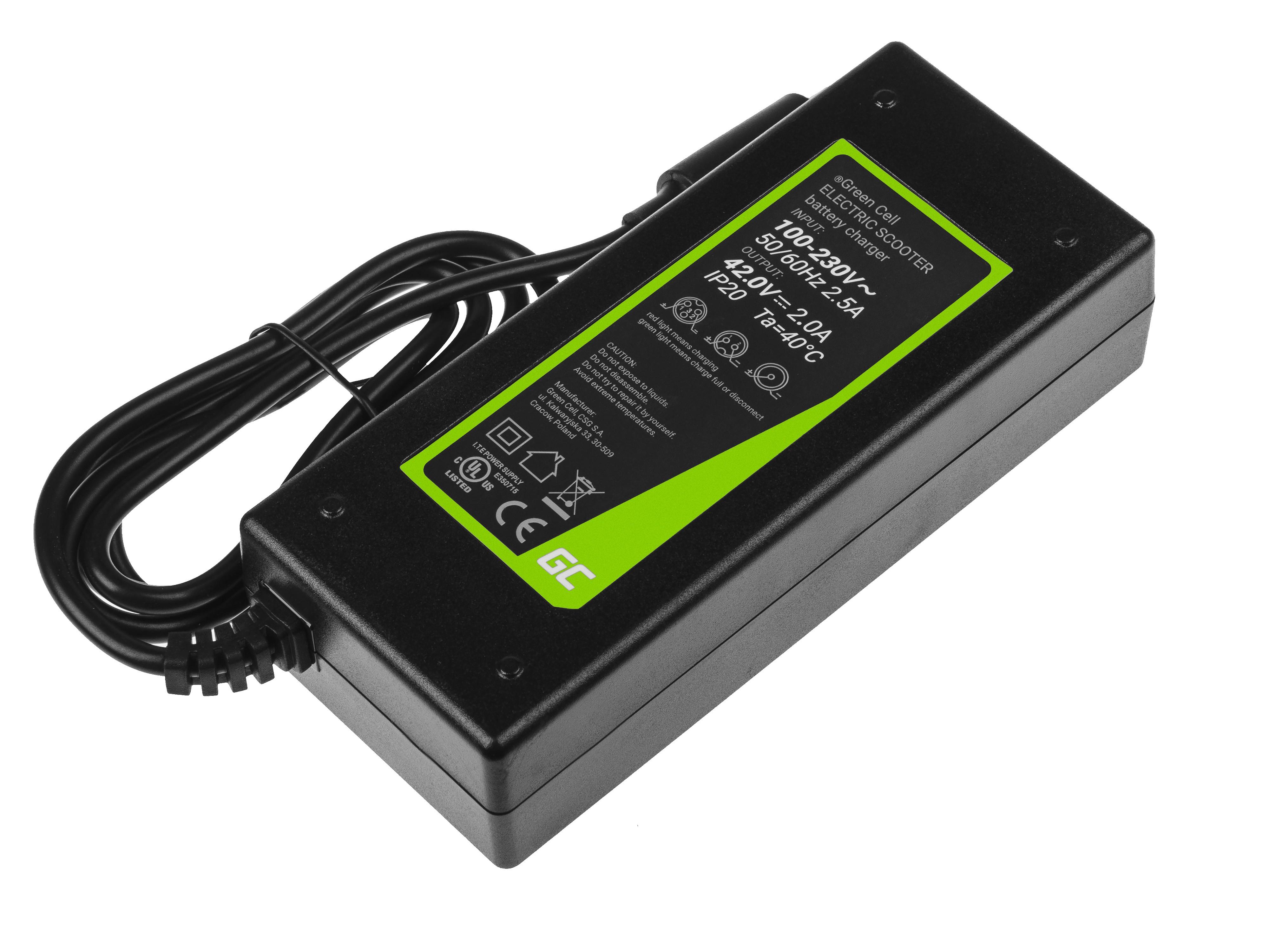 Green Cell 42V for Xiaomi Mijia M365, M365 Pro / Segway Ninebot ES1, ES2, ES3, ES4 / Lime / Hive / Bird Elektriskie skuteri un līdzsvara dēļi