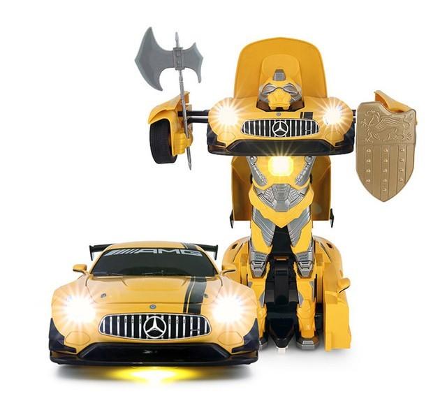 Rastar GT3 Transformer RASTAR 1:14 2.4GHz RTR - Yellow Radiovadāmā rotaļlieta