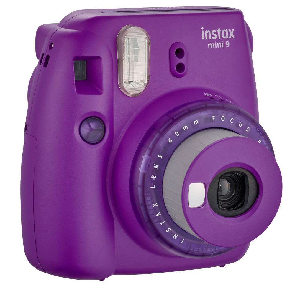 Fujifilm Instax Mini 9 camera Purple, 0.6m, Instant camera + 10 pcs. of glossy Digitālā kamera