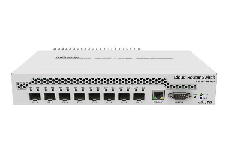 MikroTik Switch CRS309-1G-8S+IN Managed, Desktop, 1 Gbps (RJ-45) ports quantity 1, SFP+ ports quantity 8, Dual boot SwitchOS/RouterOS (Level komutators