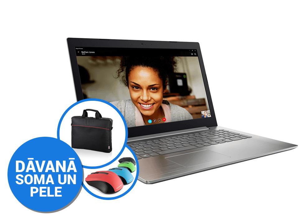 "Lenovo IdeaPad 320-15IAP 15""FHD/N3350/4GB/128GB SSD/Win10 (soma, pele) Portatīvais dators"