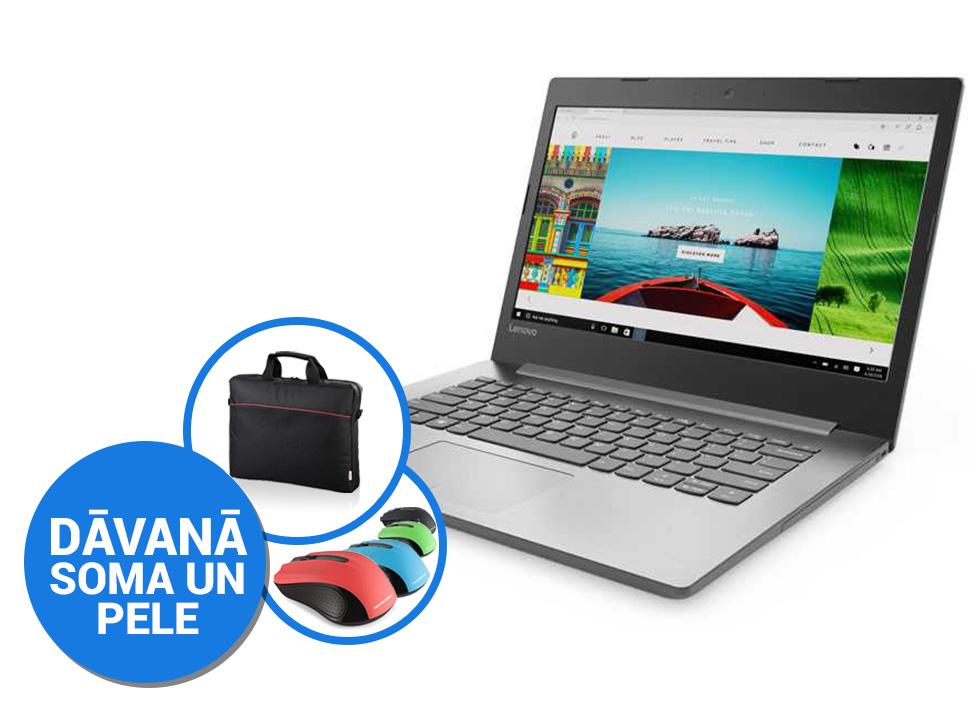"Lenovo IdeaPad 320-14ISK 14""FHD/i3-6006U/8GB/256GB SSD/Win10 (soma, pele) Portatīvais dators"
