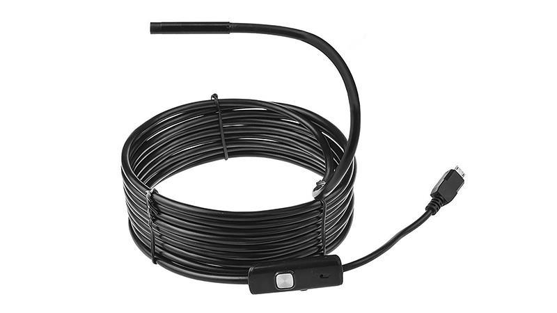 Mediatech MOBILE ENDOSCOPE - Endoscope with microUSB/USB port, 5m, VGA, LED light aksesuārs mobilajiem telefoniem