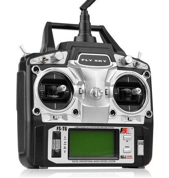 FlySky FS-T6 6CH 2.4GHz + receiver R6B FS-T6+R6B