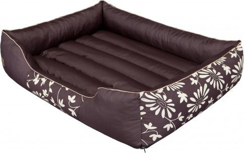 HOBBYDOG Prestige bed - Brown with flowers XL