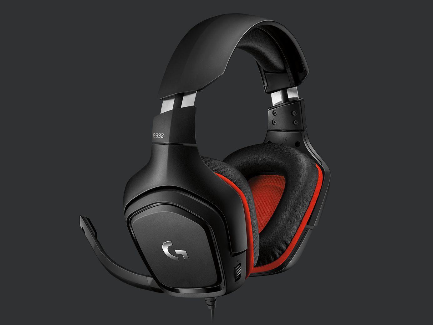 Logitech Gaming Headset G332 Symmetra - Black/Red - 3.5 MM, Leatherette austiņas
